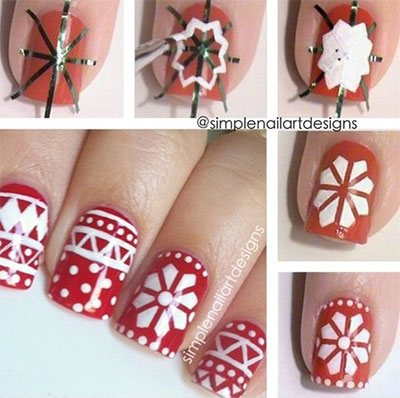 Christmas Holiday Nail Art Designs Tutorial With Steps