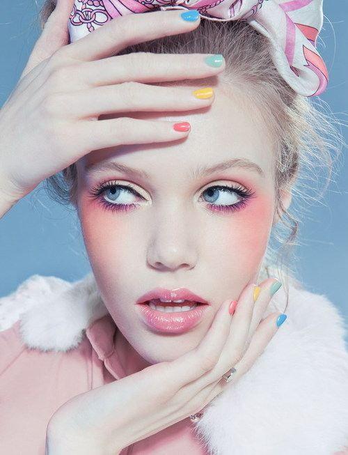 gorgeous pastel makeup looks (10)