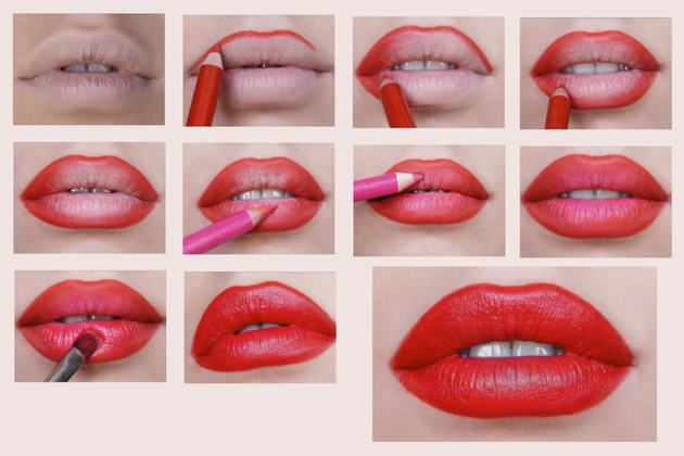 Bold Red Lipstick Tutorial (4)