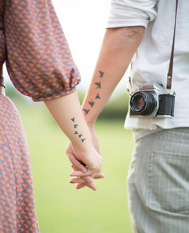 Cute Tattoo Design Ideas For Couples Matching with Meanings (12)