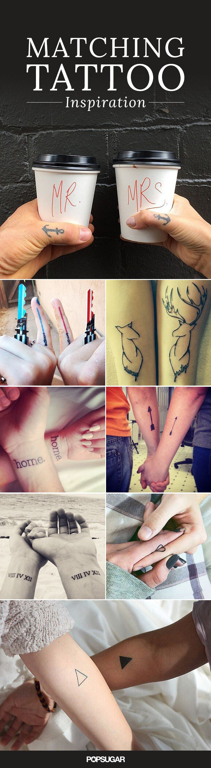 Cute Tattoo Design Ideas For Couples Matching with Meanings (5)