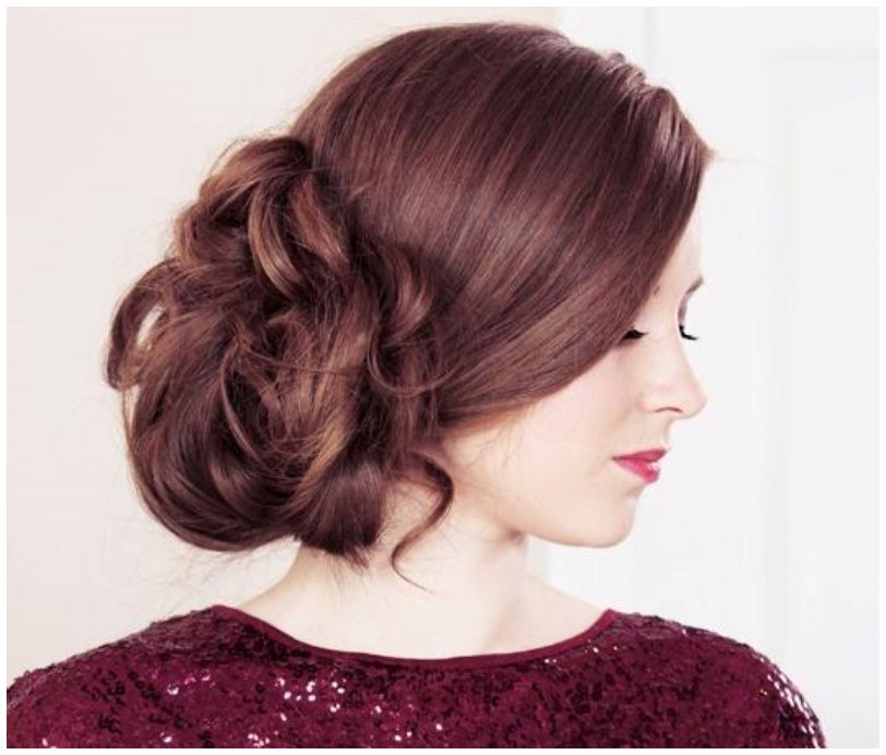 Latest Hair Style 2018 Attend Wedding Hair Tied Back