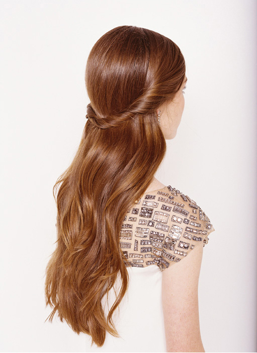 Half up half down long hairstyle (2)