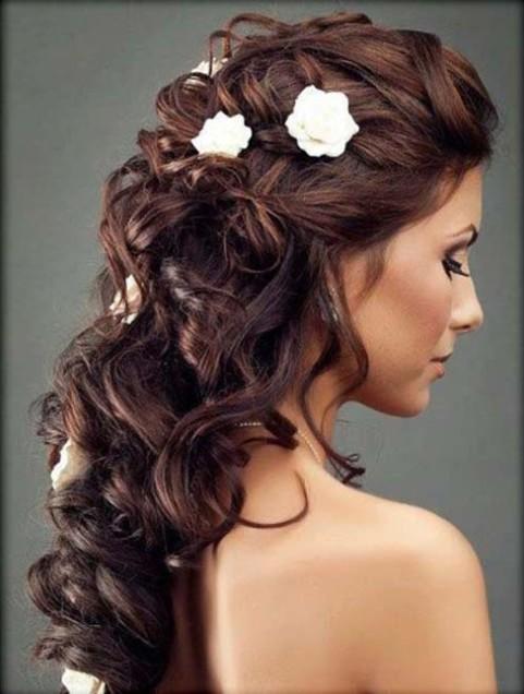 Half up half down long hairstyle (4)