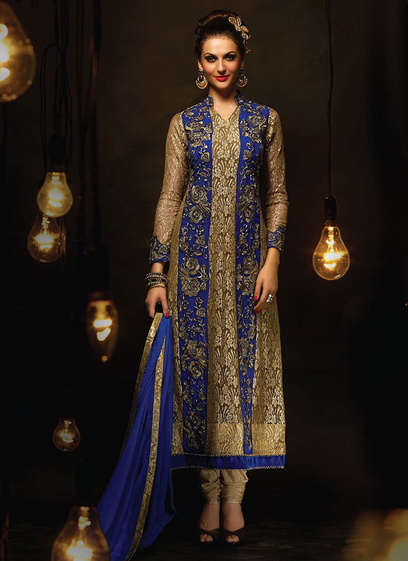Indian Party Wears Salwar Kameez Collection 2015-2016 (4)