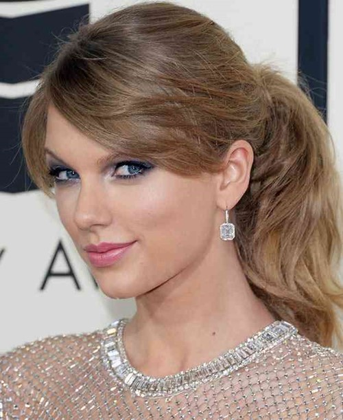 Layered ponytail with bangs (1)