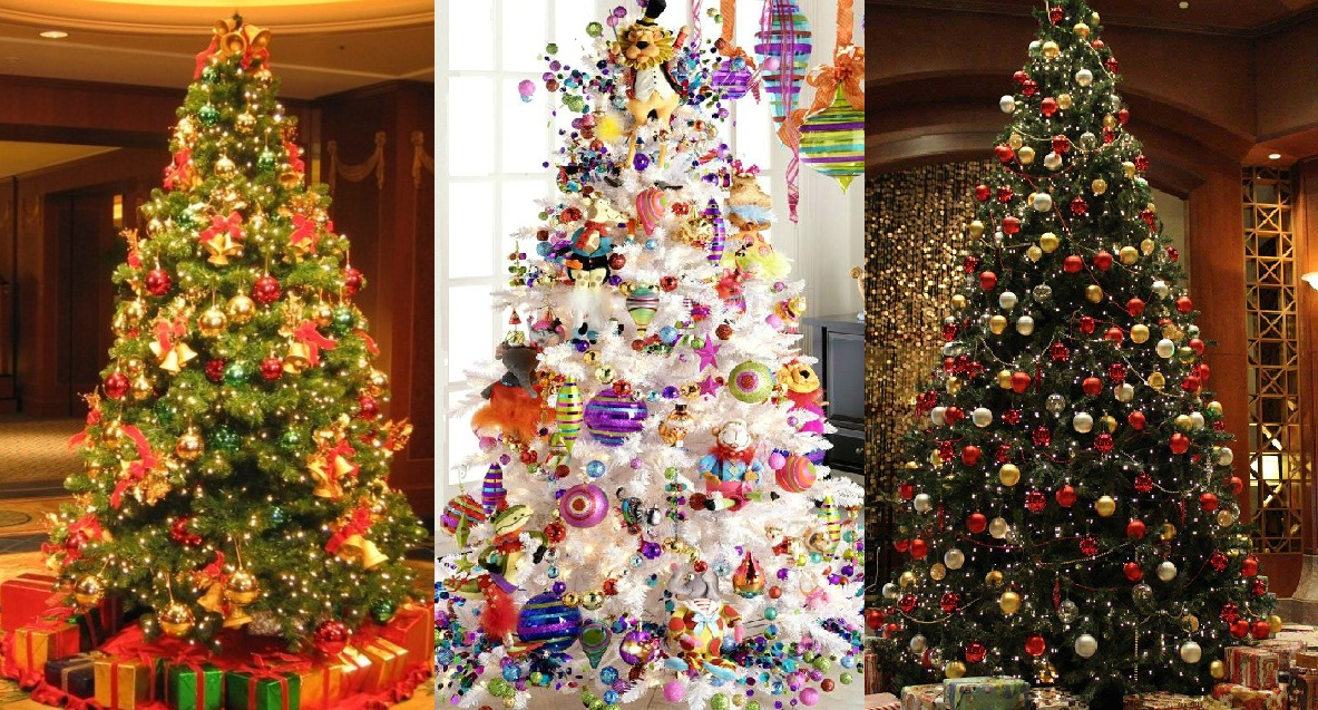 Top 10 best christmas tree decorating ideas 2017 2018 trends Over the top christmas tree decorations