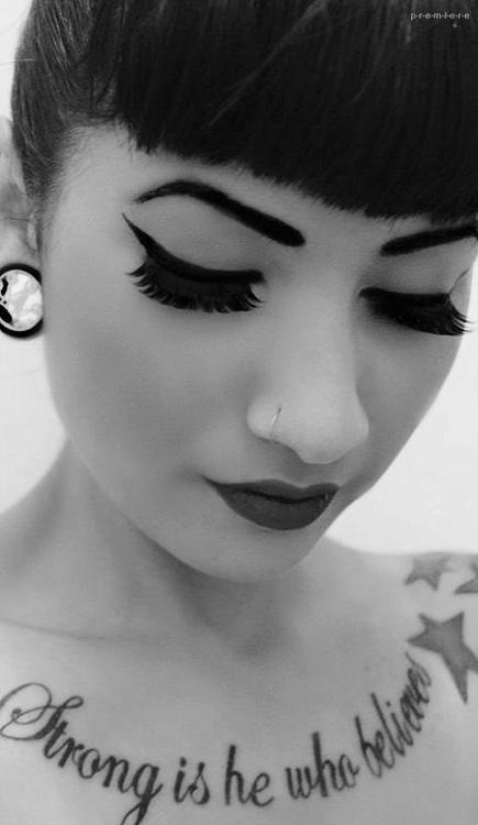 women chest tattoo designs