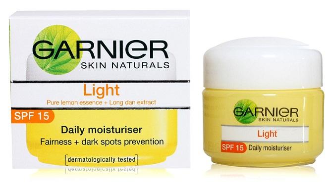 Garnier light daily moisturizer