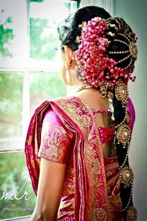 Indian Wedding Hairstyles Fashion Trends 2018-2019 for Bridals