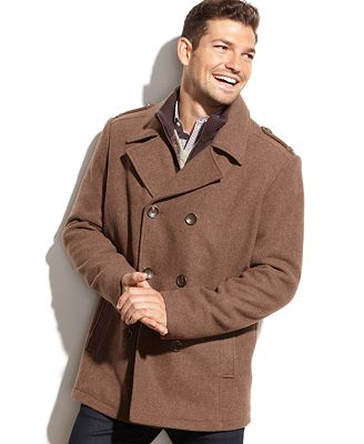 Kenneth Cole Wool-Blend Peacoat-macys