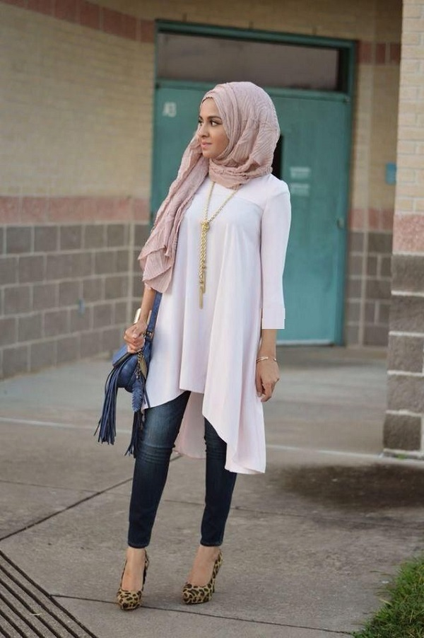 Latest Trends of Casual Wear Hijab Styles with Jeans 2016-2017 (18)