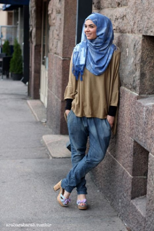 Latest Trends of Casual Wear Hijab Styles with Jeans 2016-2017 (21)