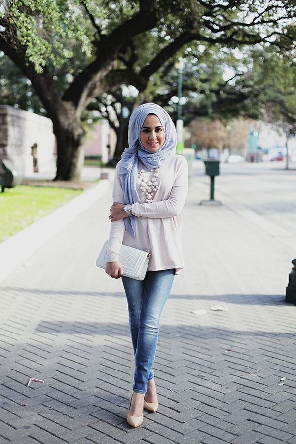 Latest Trends of Casual Wear Hijab Styles with Jeans 2016-2017 (22)