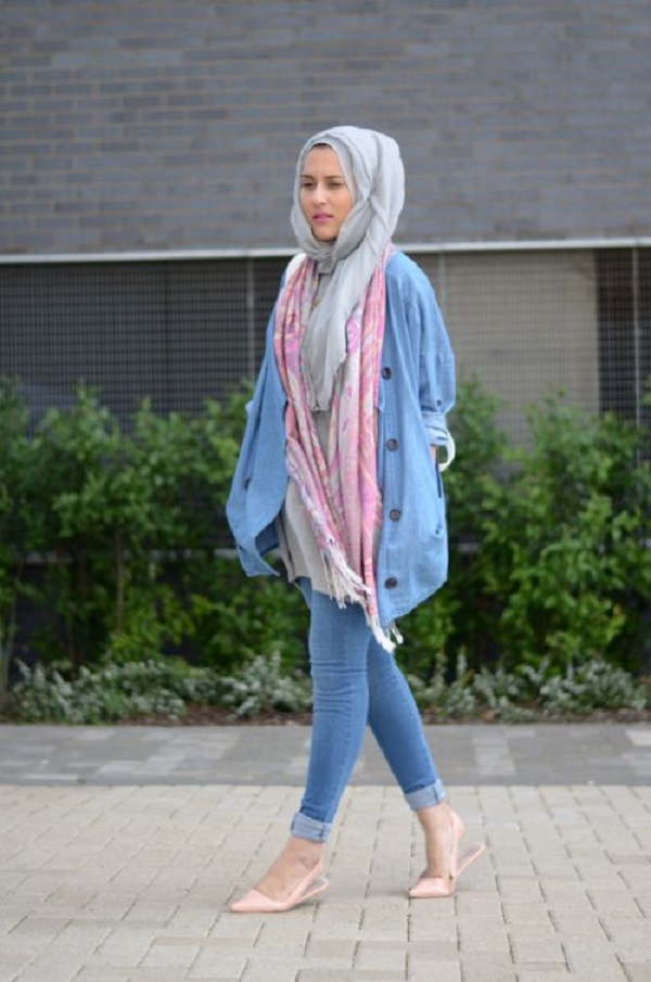 Latest Trends of Casual Wear Hijab Styles with Jeans 2016-2017 (23)