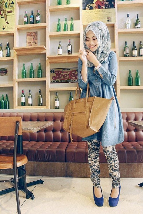 Latest Trends of Casual Wear Hijab Styles with Jeans 2016-2017 (27)