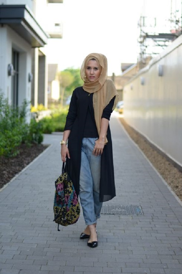 Latest Trends of Casual Wear Hijab Styles with Jeans 2016-2017 (6)