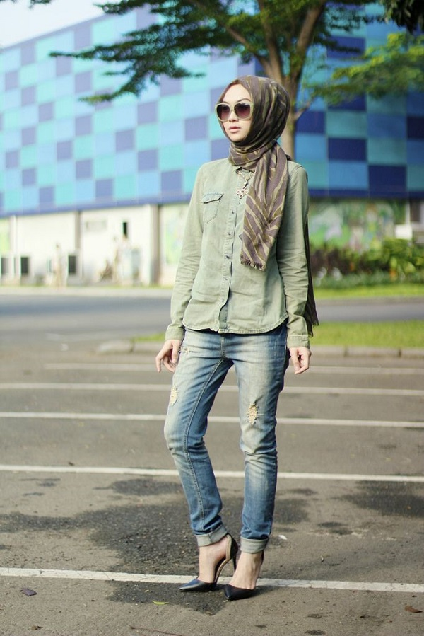 Latest Trends of Casual Wear Hijab Styles with Jeans 2016-2017 (7)