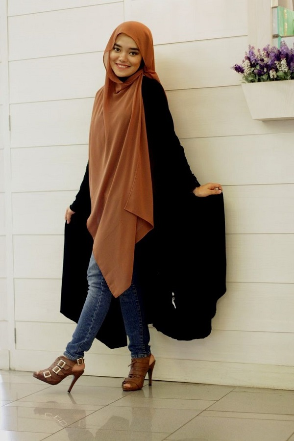 Latest Trends of Casual Wear Hijab Styles with Jeans 2016-2017 (9)