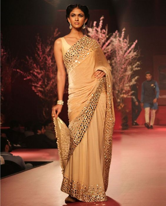 Manish Malhotra Latest Indian Designer Sarees (4)