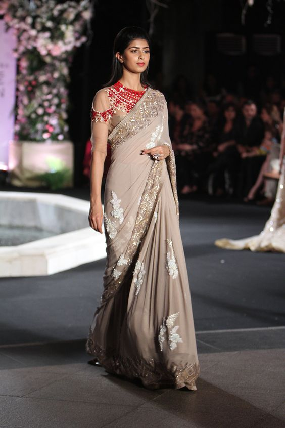 Manish Malhotra Latest Indian Designer Sarees (5)