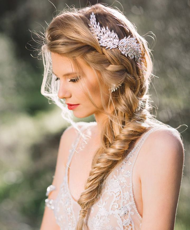 Wedding Hairstyle With Braids: Latest Wedding Bridal Braided Hairstyles 2019- Step By