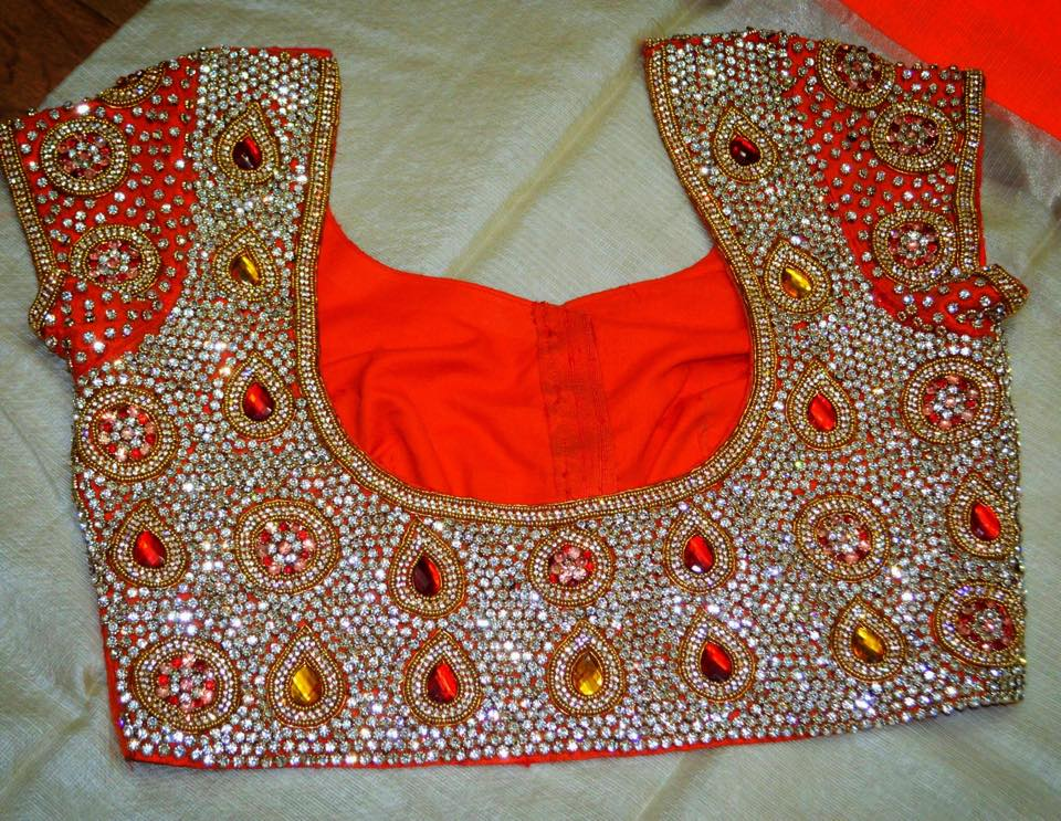Kundan Embroidered Sarees (1)