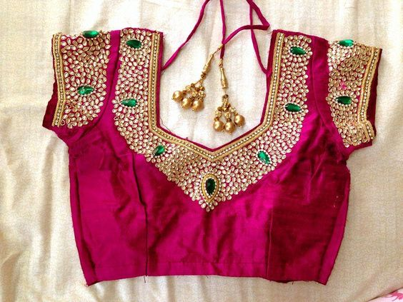 Kundan Embroidered Sarees (4)