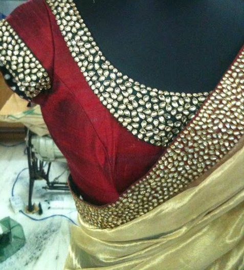 Kundan Embroidered Sarees