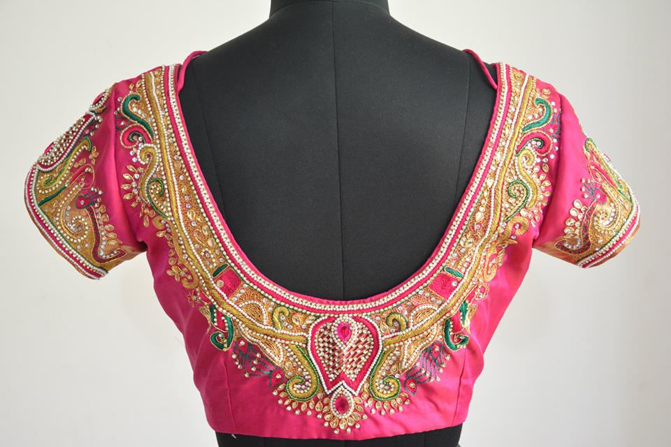 Stonework Embroidered Sarees (5)