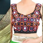 Popular Fancy Embroidered Saree Blouses Styles & Designs