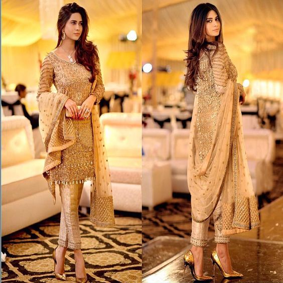 Party Wear Embroidered Dresses Designs Collection 2016-2017