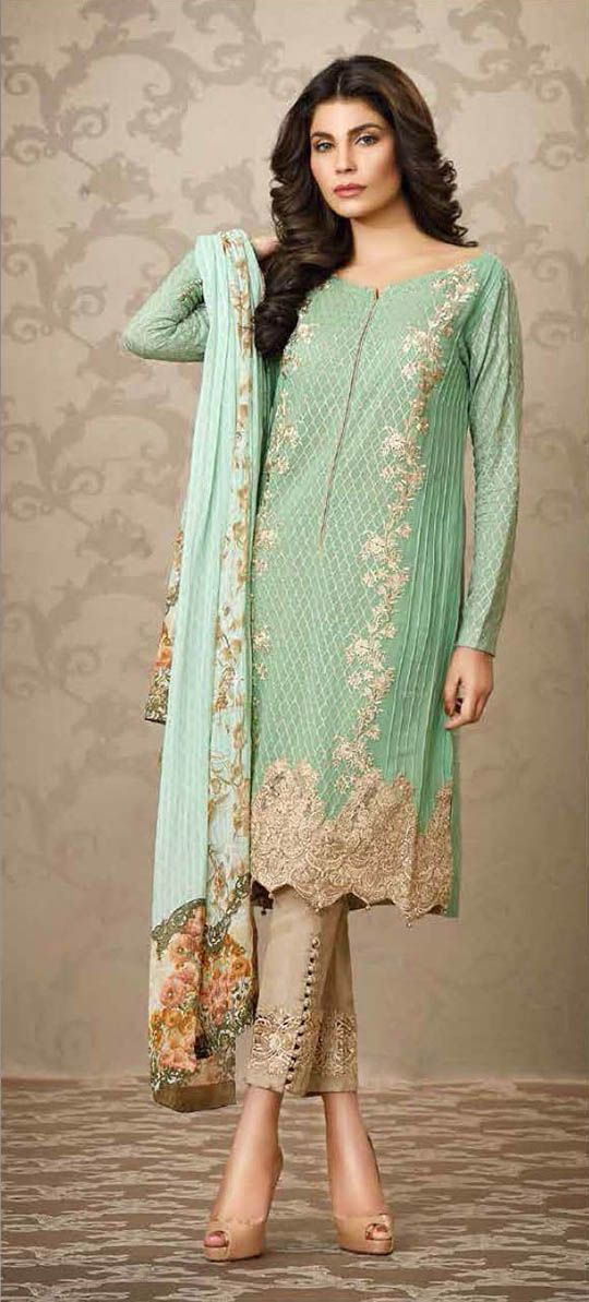 Party Wear Embroidered Dresses Designs Collection 2016-2017 (15)