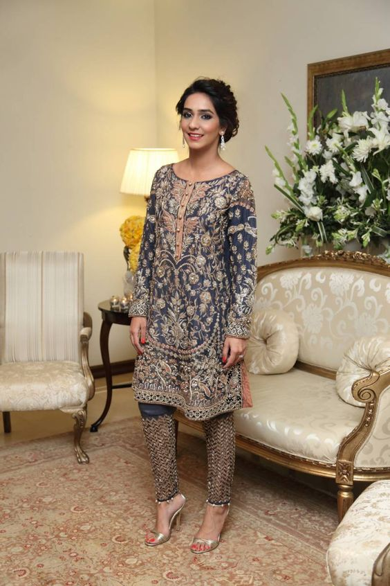 Party Wear Embroidered Dresses Designs Collection 2016-2017 (7)