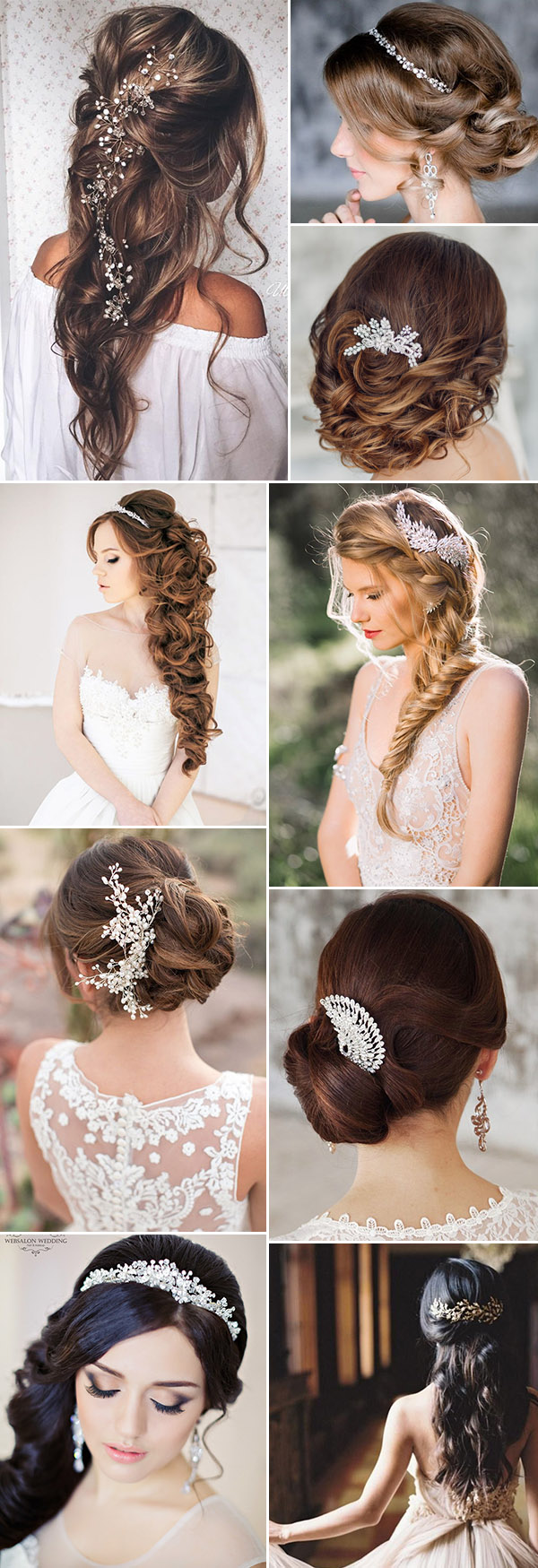 Floral fancy bridal headpieces hair accessories 2018 19 for Where to buy wedding accessories