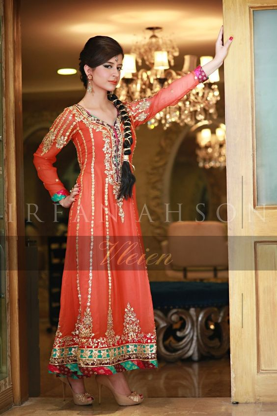 Bridal Mehndi Dresses Collection (13)