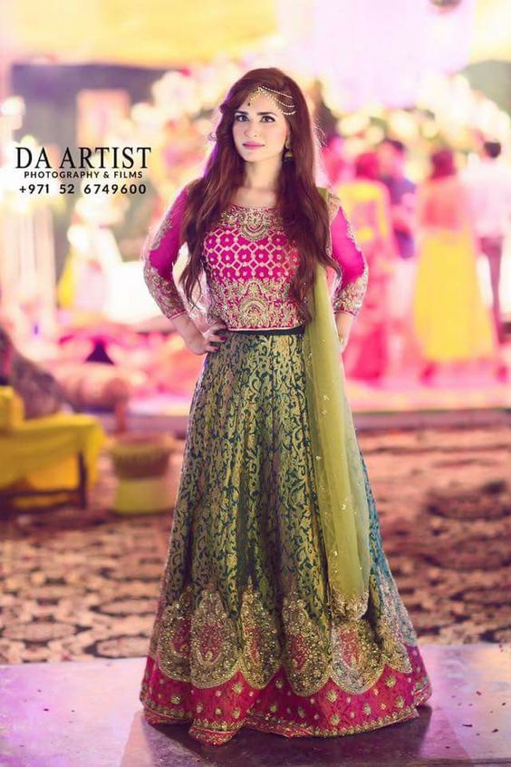 Bridal Mehndi Dresses Collection (16)