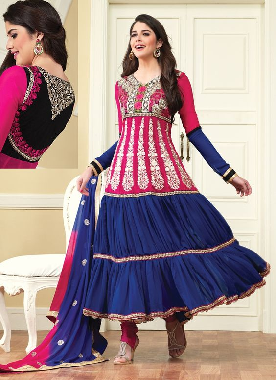 Fancy Indian & Asian Anarkali Umbrella Frocks (17)