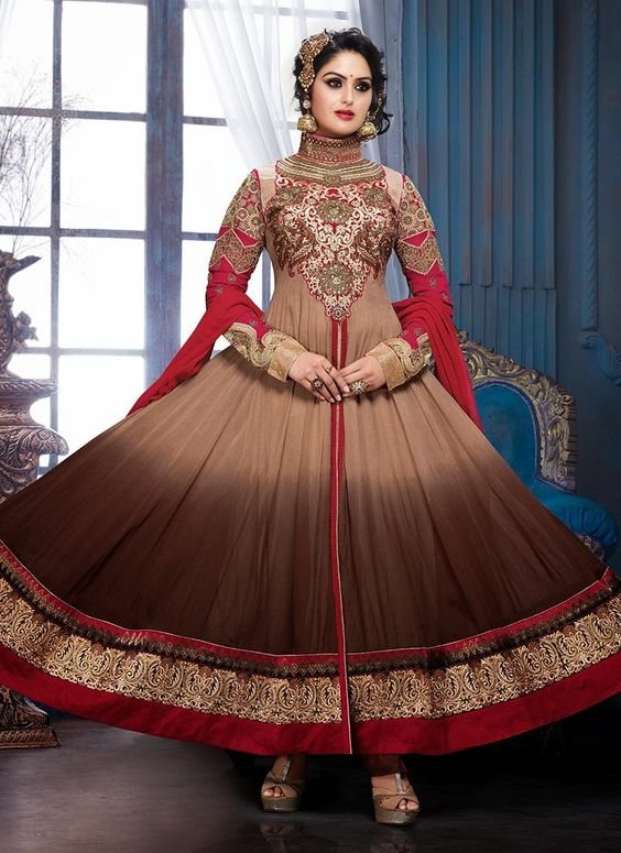 Fancy Indian & Asian Anarkali Umbrella Frocks (2)