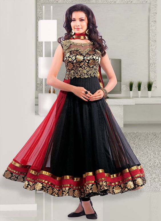 Fancy Indian & Asian Anarkali Umbrella Frocks (5)