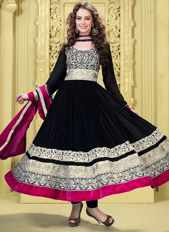 Fancy Indian & Asian Anarkali Umbrella Frocks (9)