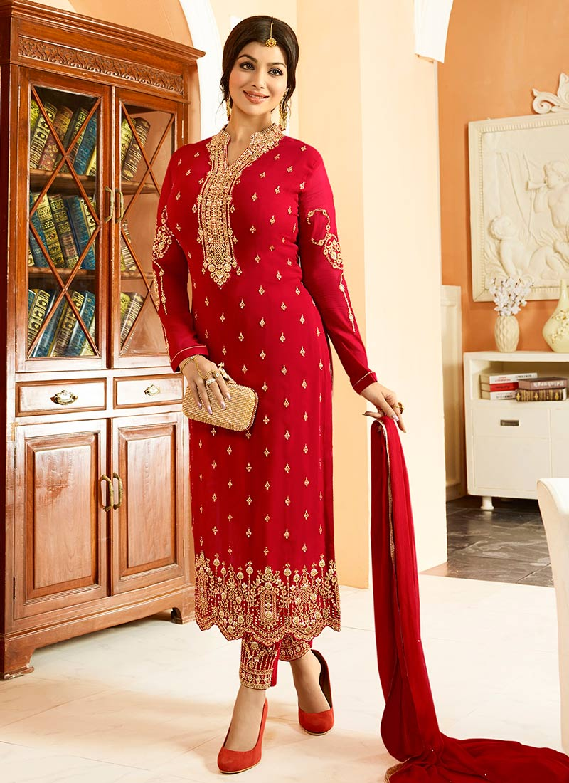 Latest Straight Cut Salwar Kameez Suits 2