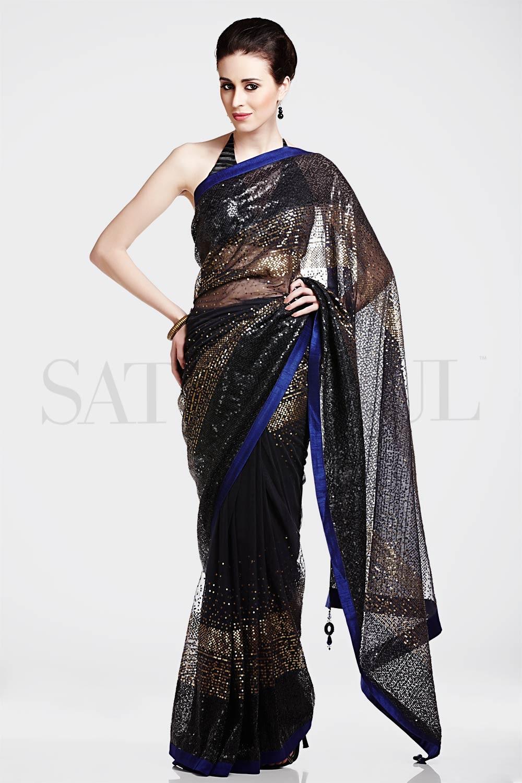 Satya Paul Indian Designer Sarees (5)