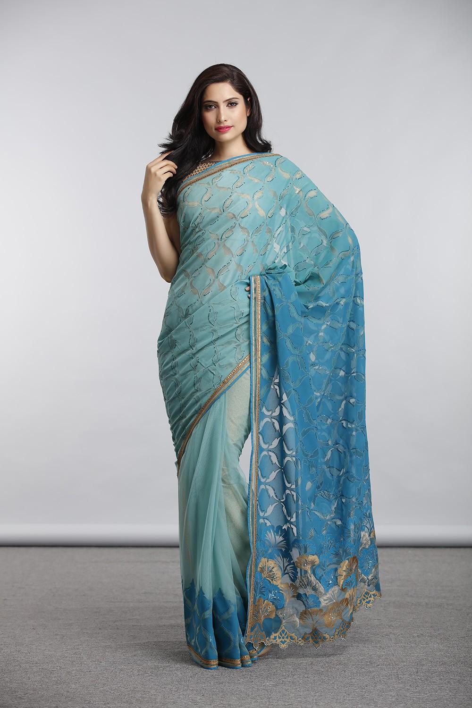 Satya Paul Indian Designer Sarees (9)