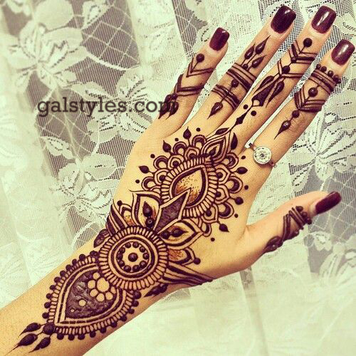 Simple & Best Eid Mehndi Designs for Girls 2016-2017 (15)
