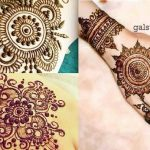 Simple & Best Eid Mehndi Designs 2017-2018 Collection for Girls