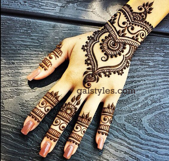 Simple & Best Eid Mehndi Designs for Girls 2016-2017 (16)