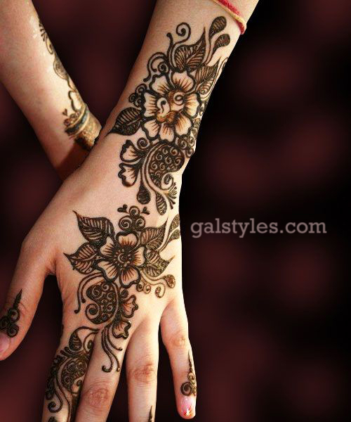 Mehndi Designs Easy For Girls : Simple best eid mehndi designs  collection for