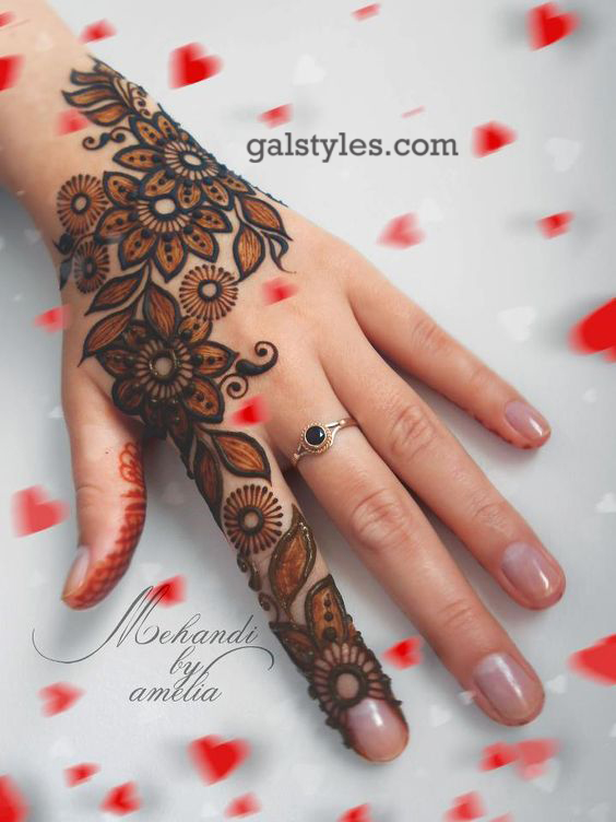 Mehndi Easy Design 2018 : Simple best eid mehndi designs  collection for