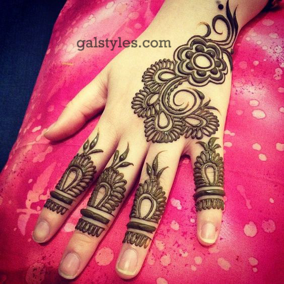Simple Mehndi Patterns For Eid : Simple best eid mehndi designs  collection for